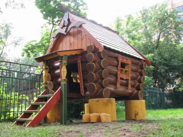 Детские площадки качели домики